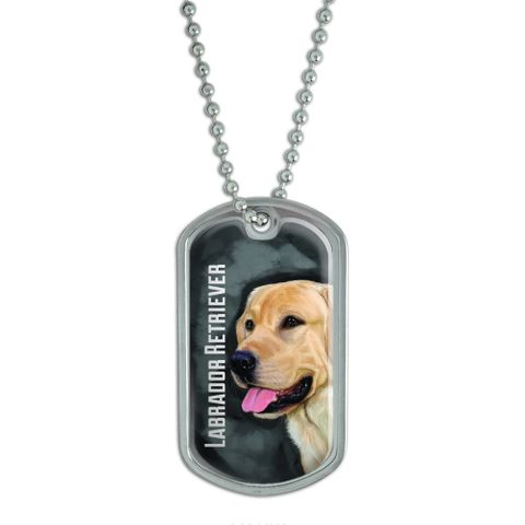 Yellow Labrador Retriever Gray Grey - Dog Pet Dog Tag
