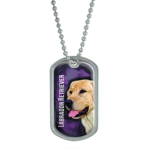 Yellow Labrador Retriever Pink - Dog Pet Dog Tag