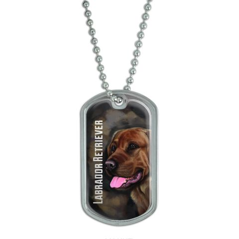 Chocolate Labrador Retriever Brown - Dog Pet Dog Tag