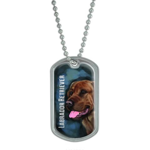 Chocolate Labrador Retriever Blue - Dog Pet Dog Tag