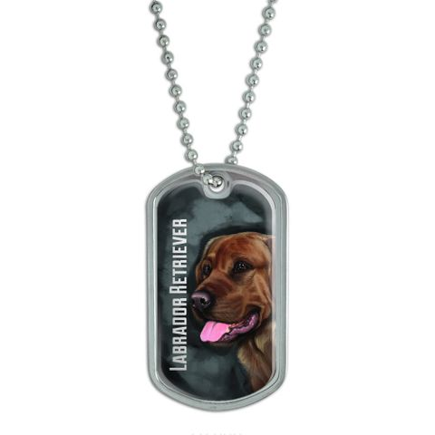Chocolate Labrador Retriever Gray Grey - Dog Pet Dog Tag