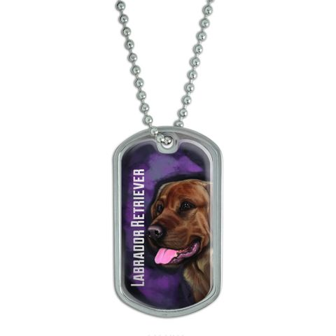 Chocolate Labrador Retriever Pink - Dog Pet Dog Tag