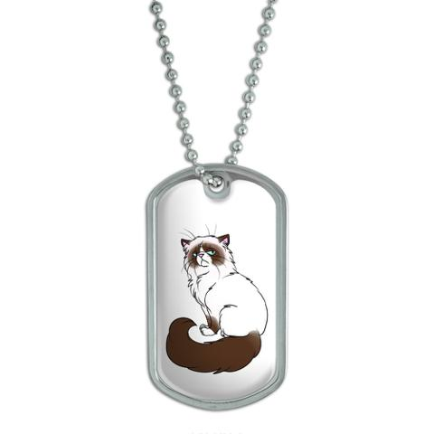 Persian Cat Himalayan Color Points on White - Pet Dog Tag