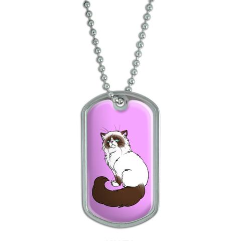 Persian Cat Himalayan Color Points on Pink - Pet Dog Tag