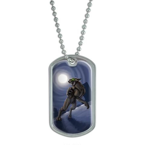 Werewolf - Wolf Full Moon Halloween Scary Night Dog Tag