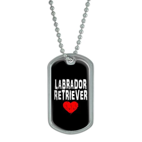 Labrador Retriever Love - Black Dog Tag