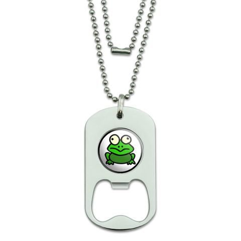 Frog Toad Dog Tag Bottle Opener