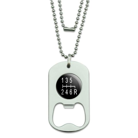 6 Speed Shift Knob Manual Transmission Dog Tag Bottle Opener