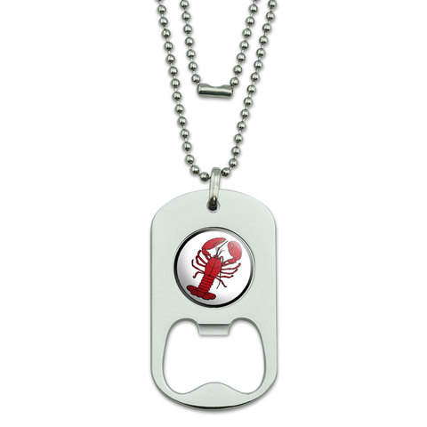 Lobster Dog Tag Bottle Opener