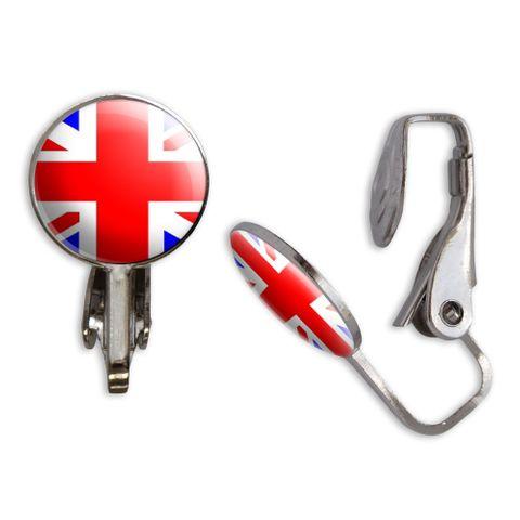 Great Britain Flag Clip-On Stud Earrings