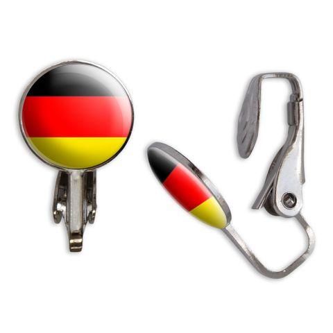 German Flag Clip-On Stud Earrings