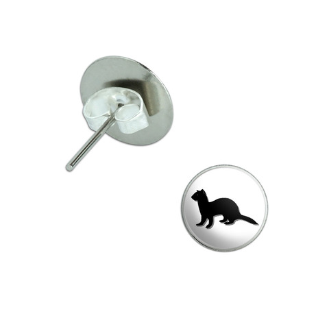 Ferret Pierced Stud Earrings