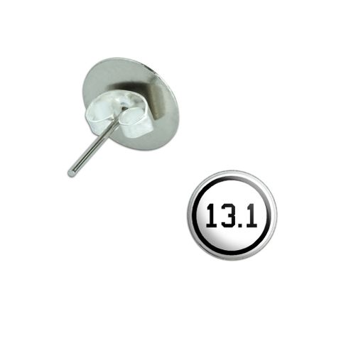 13.1 half marathon Pierced Stud Earrings