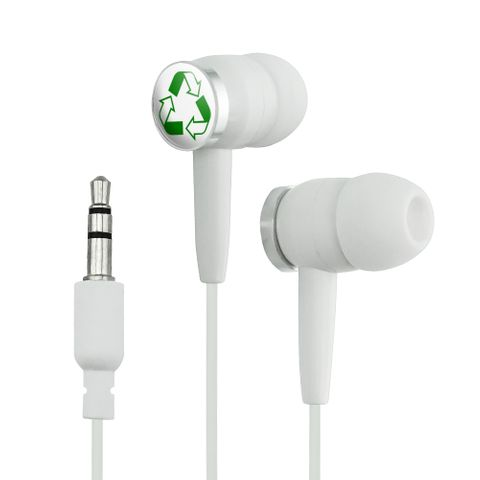 Recycle Reuse Conservation Hybrid Novelty In-Ear Earbud Headphones