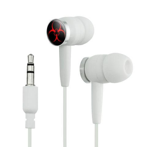 Biohazard Warning Symbol Zombie Radioactive Novelty In-Ear Earbud Headphones