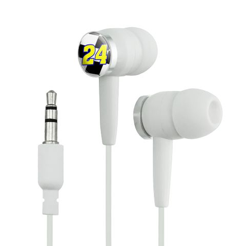 Number 24 Checkered Flag Racing Novelty In-Ear Earbud Headphones