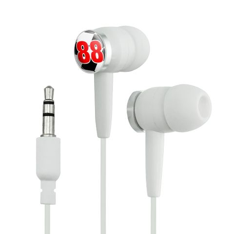 Number 88 Checkered Flag Racing Novelty In-Ear Earbud Headphones