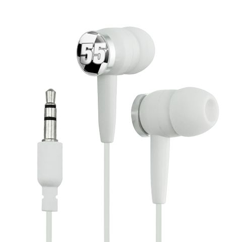 Number 55 Checkered Flag Racing Novelty In-Ear Earbud Headphones
