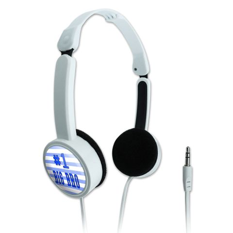 #1 Big Bro Brother Number One Favorite Novelty Travel Portable On-Ear Foldable Headphones