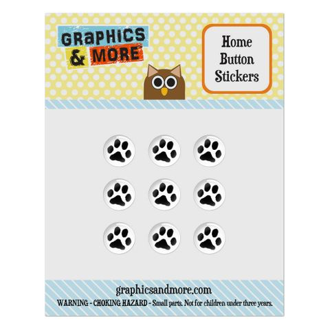 Paw Print Pet Dog Cat Home Button Stickers Set Fit Apple iPhone iPad iPod Touch