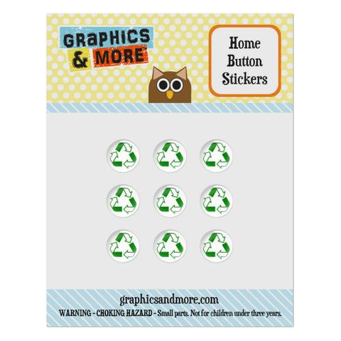 Recycle Reuse Conservation Hybrid Home Button Stickers Set Fit Apple iPhone iPad iPod Touch