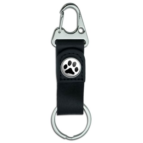 Paw Print - Pet Dog Cat Belt Clip Carabiner Keychain