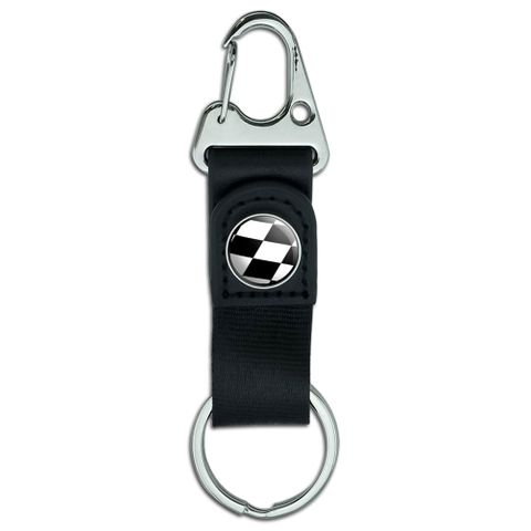 Checkered Flag - Racing Belt Clip Carabiner Keychain