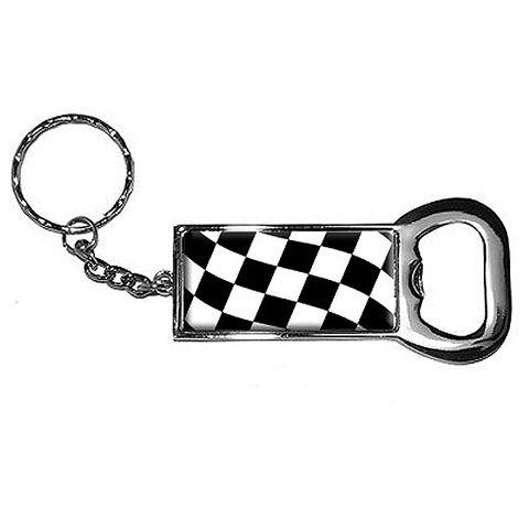 Checkered Flag Bottle Opener Keychain