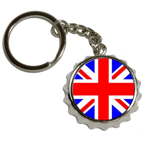 Britain British Flag Pop Cap Bottle Opener Keychain