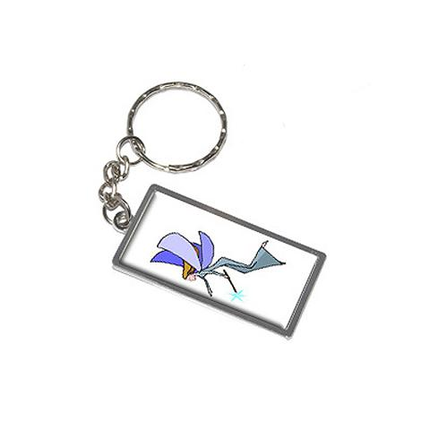 Fairy Fantasy Metal Rectangle Keychain