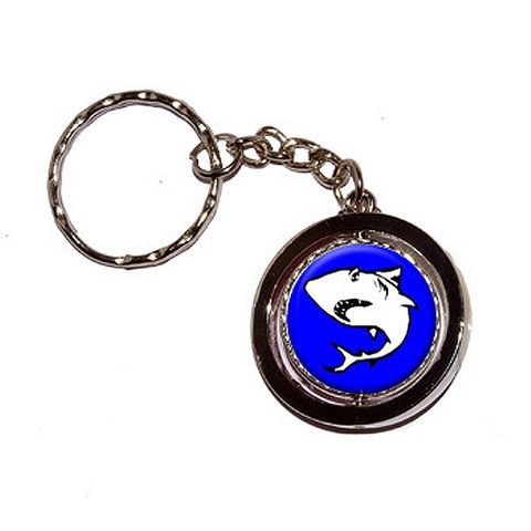 Shark Spinning Circle Keychain