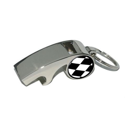 Checkered Flag - Racing Whistle Bottle Opener Keychain