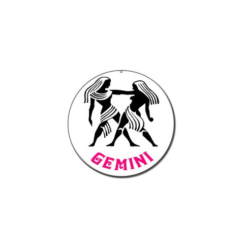 Gemini The Twins Zodiac Horoscope Lapel Hat Pin Tie Tack Small Round