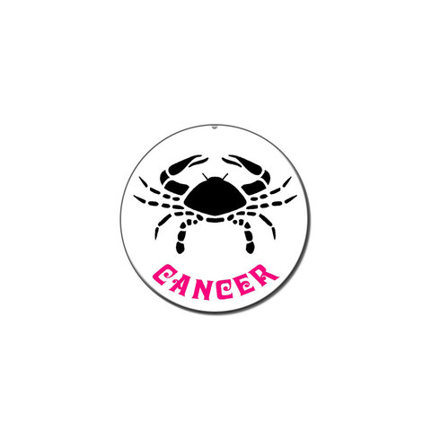 Cancer The Crab Zodiac Horoscope Lapel Hat Pin Tie Tack Small Round