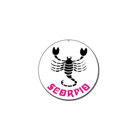Scorpio The Scorpion Zodiac Horoscope Lapel Hat Pin Tie Tack Small Round
