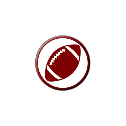 Football Ball Lapel Hat Pin Tie Tack Small Round