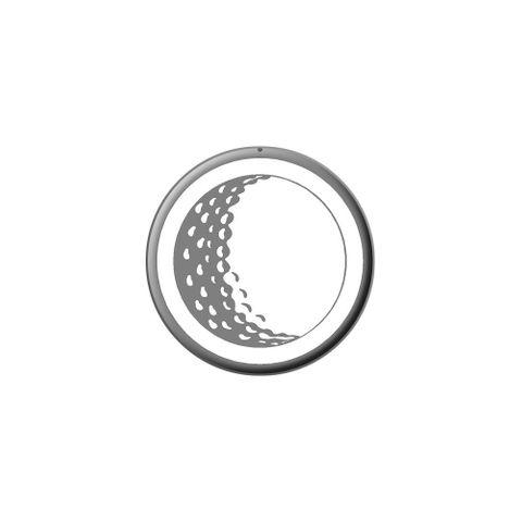 Golf Ball - Golfing Golfer Lapel Hat Pin Tie Tack Small Round