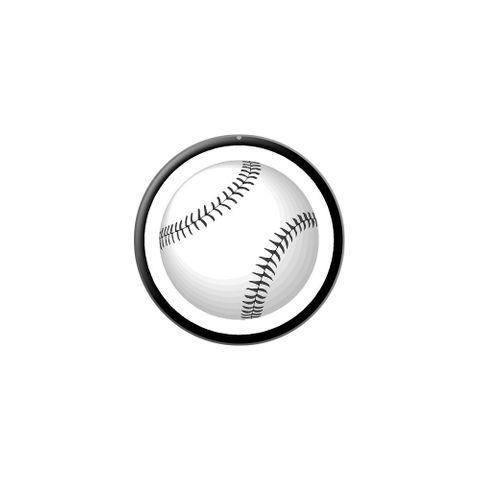 Baseball Ball Lapel Hat Pin Tie Tack Small Round