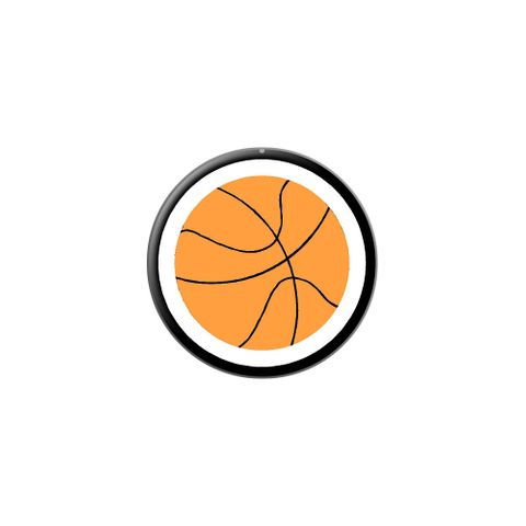 Basketball Lapel Hat Pin Tie Tack Small Round