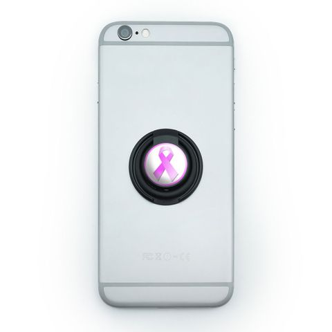 Breast Cancer Pink Ribbon Mobile Phone Ring Holder Stand