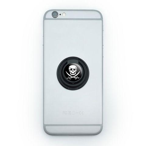 Pirate Skull Crossed Swords - Jolly Roger Mobile Phone Ring Holder Stand