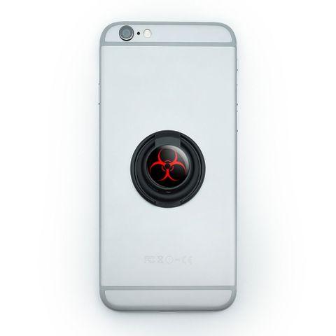 Biohazard Warning Symbol - Zombie Radioactive Mobile Phone Ring Holder Stand