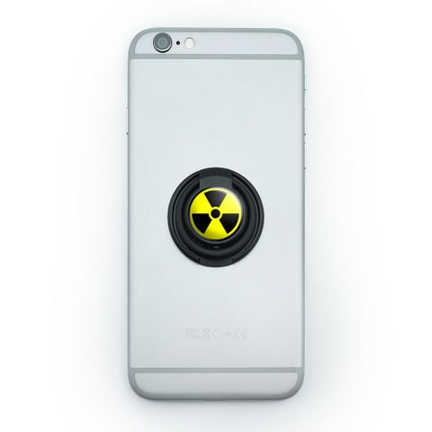 Radioactive Nuclear Warning Symbol Mobile Phone Ring Holder Stand