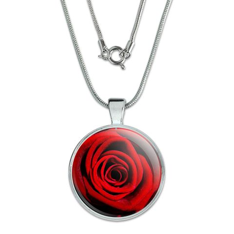 Red Rose Large Pendant