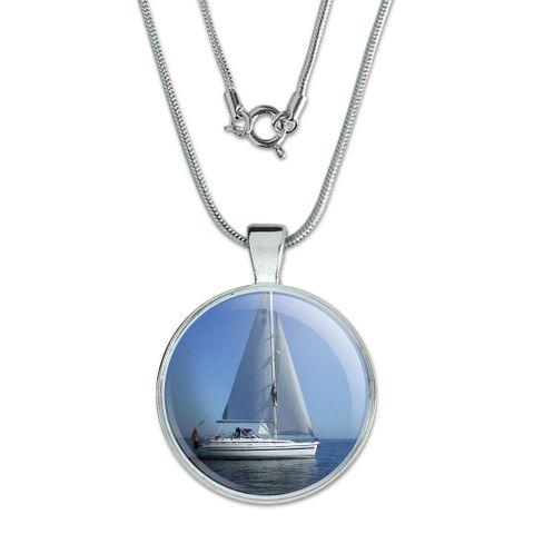 Sail Sailing Boat Large Pendant