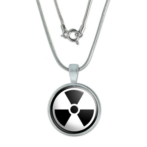 Radioactive on White Small Pendant