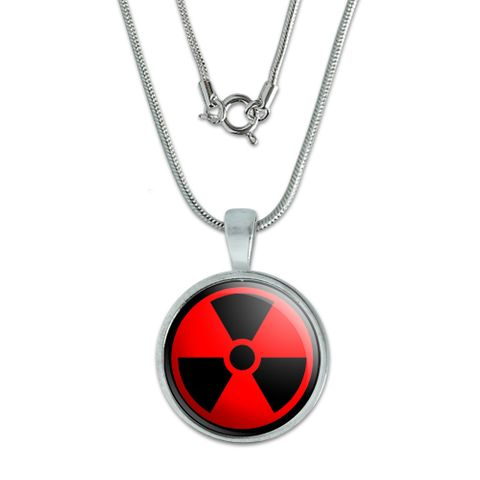 Radioactive on Red Small Pendant