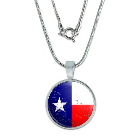Texas Flag Distressed Small Pendant