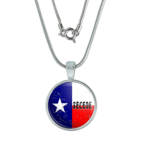SECEDE - Texas Flag Distressed Small Pendant