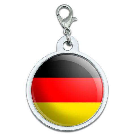 German Germany Flag Large Metal ID Pet Dog Tag